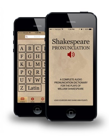 Shakespeare pronunciation app/Shakespeare mobile app